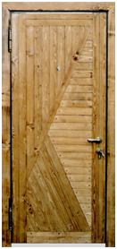 Стальные двери - Вагонка
